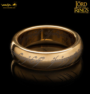 Lord Of The Rings Ring Gold Plated