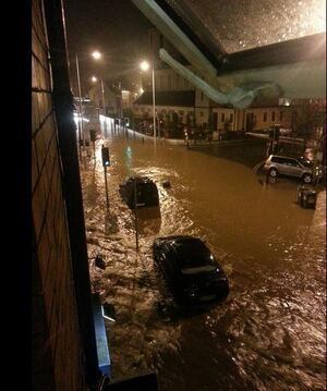 Serious flooding reported in Blackpool area of Cork City (RTE News)