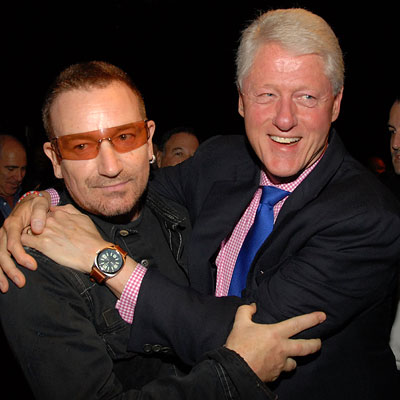 U2's Bono Without Bill Clinton 'Universe Just Wouldn't Be As Friendly to Humans'