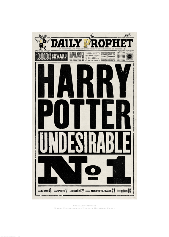 picture about Harry Potter Printable Props titled The Picture Artwork Of Harry Potter Broadsheet.ie