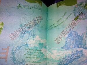 Features a borderless map of ireland and a few lines from nuala ní