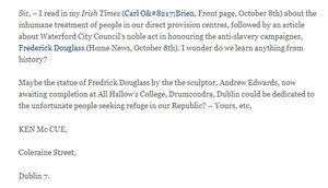 A proposition broadsheet treatment of asylum seekers irish times letters page altavistaventures Image collections