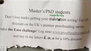thesis proofreading dublin