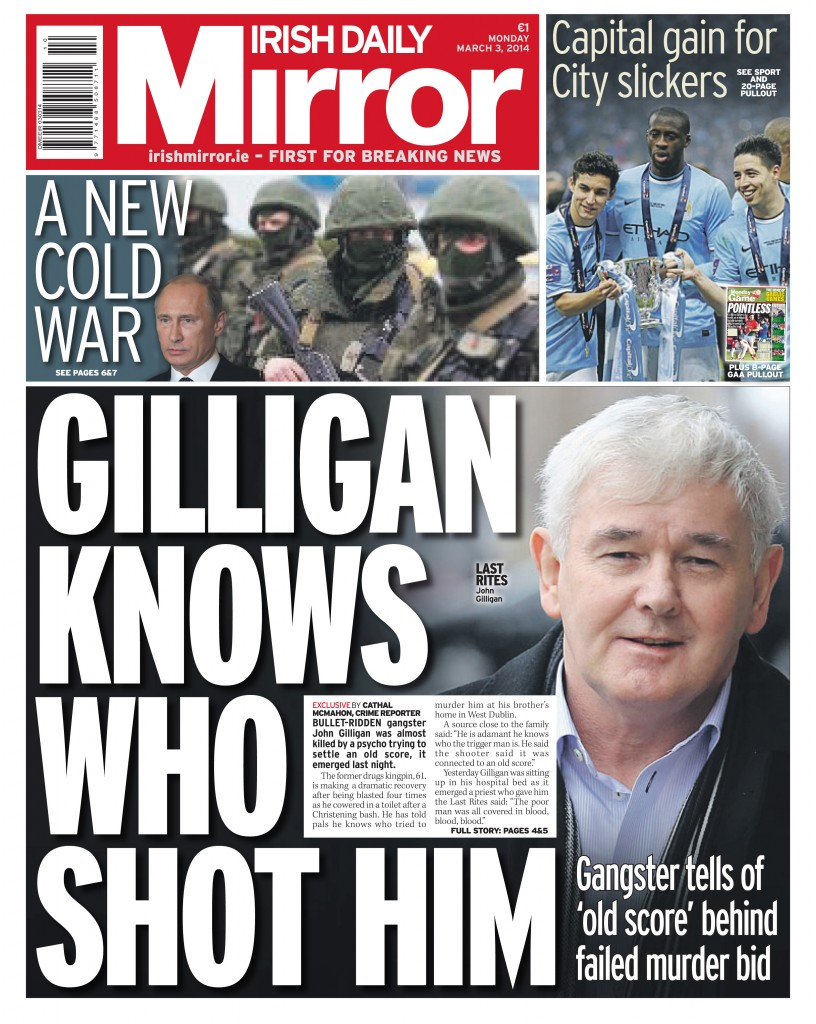 Copy of irish daily mirror dmeeir a1 3 3 2014 copy for Sunday mirror