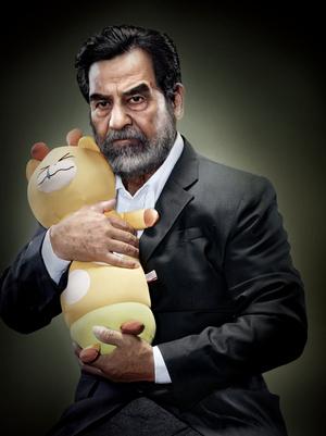 Saddam-Hussein-with-Crying-Animal