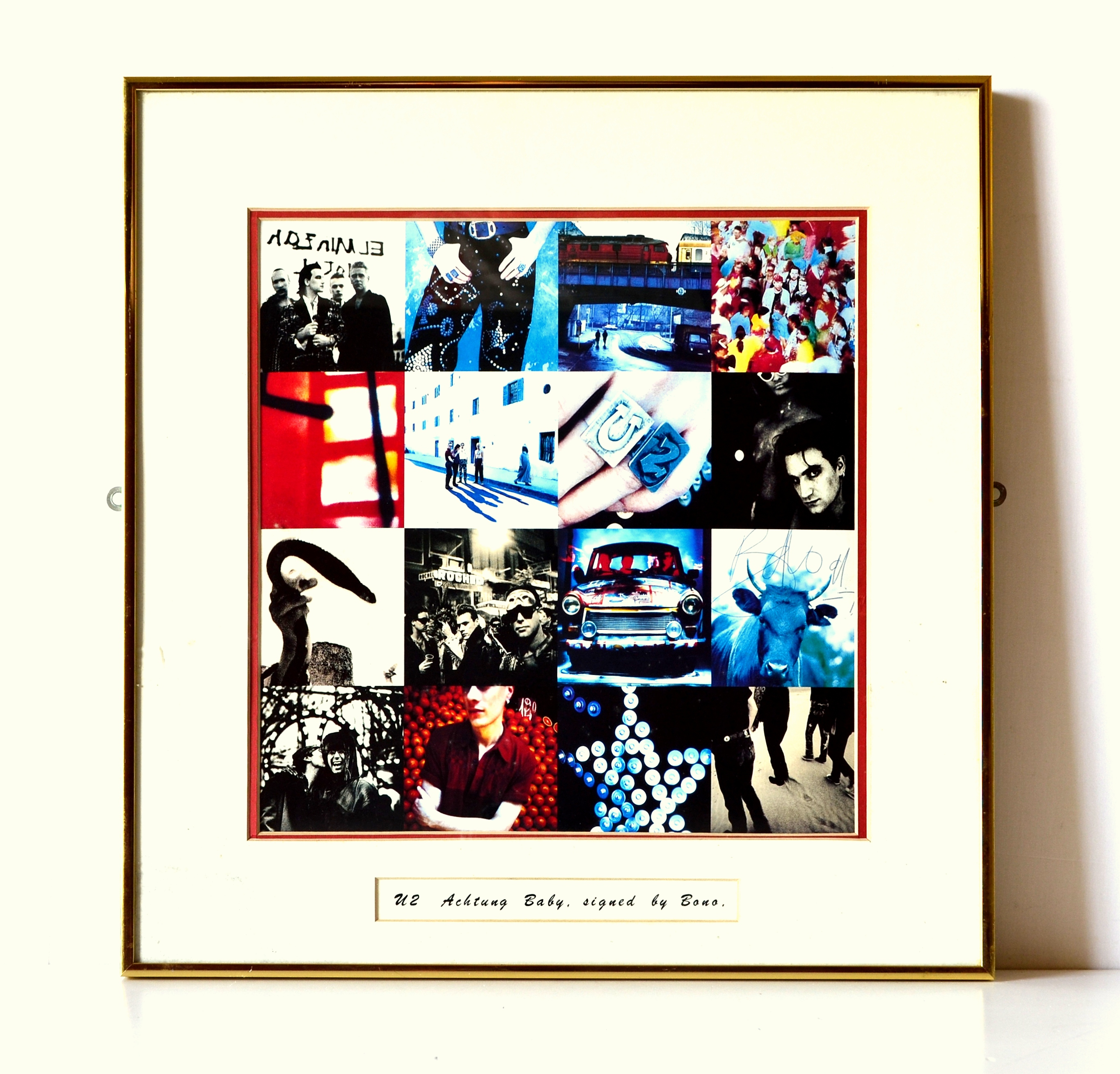 Achtung Baby signed by Bono