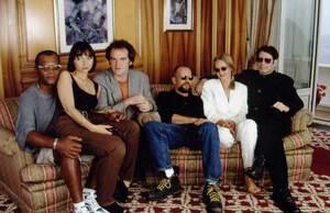 Samuel-L.-Jackson-Maria-de-Medeiros-Quentin-Tarantino-Bruce-Willis-Uma-Thurman-and-John-Travolta