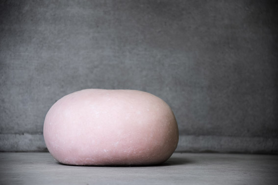 concrete pink stool