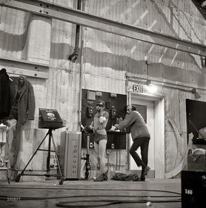 Actors+Adam+West+and+Burt+Ward+on+the+set+of+the+movie+Batman+(4)
