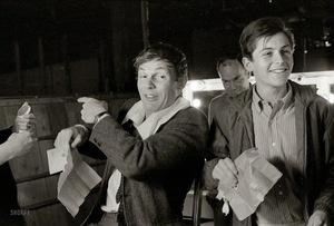 Actors+Adam+West+and+Burt+Ward+on+the+set+of+the+movie+Batman+(5)