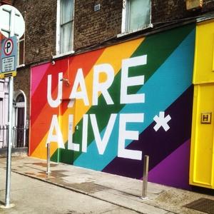 Alive alive o for Dublin gay mural