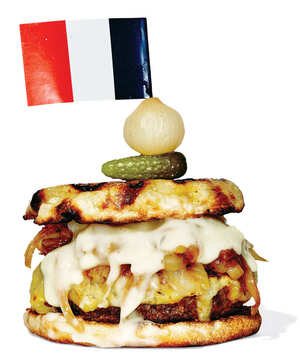 Le Rivage's French Onion Soup Burger