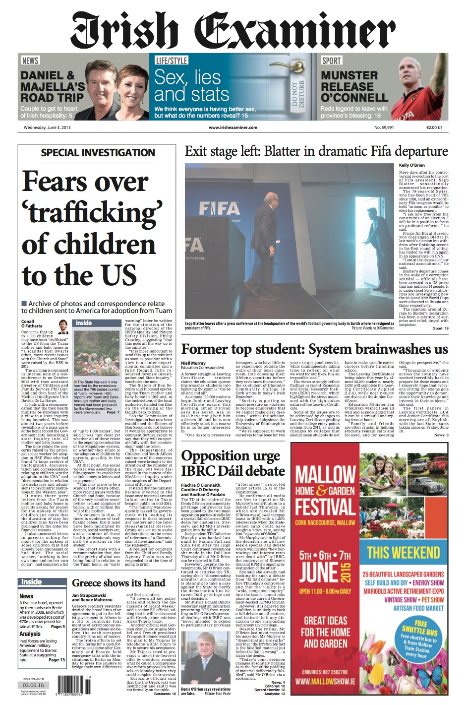 Misc broadsheet page 1457 de wednesday papers malvernweather Choice Image