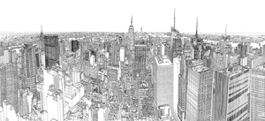 Sketching manhattan for Disegni new york