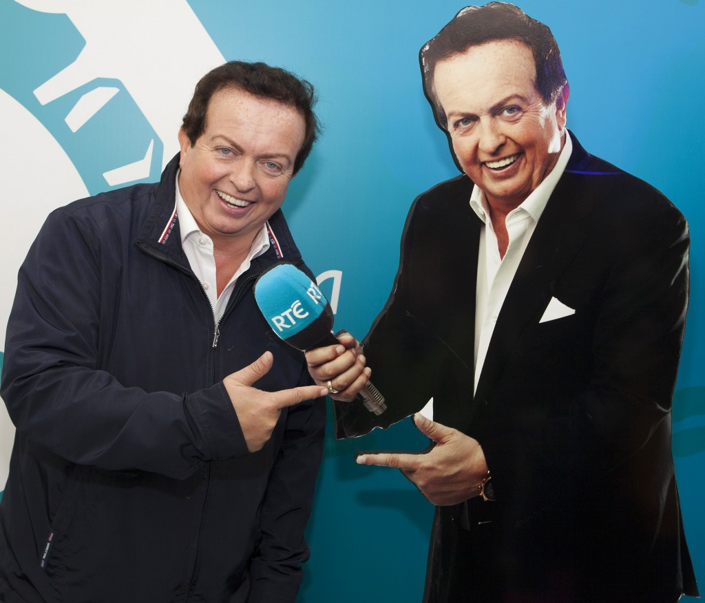 NO REPRO FEE Marty Morrissey with Marty Morrissey in the RTÉ Tent at The National Ploughing Championship 2015. Picture: Tony Kinlan/Kinlan Photography.