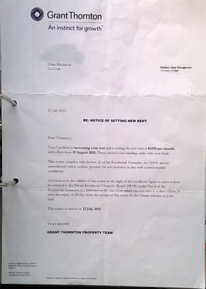 tenant rent increase letter