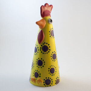 Henrietta Hen by Pottery by Kathy at The Irish Workshop