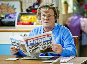 WARNING: Embargoed for publication until: 06/12/2014 - Programme Name: Mrs Brown's Boys Christmas Special 2014 - TX: n/a - Episode: n/a (No. 2) - Picture Shows: Christmas 2014 Agnes Brown (BRENDAN O'CARROLL) - (C) BBC - Photographer: Andy Peebles