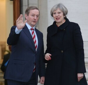 30/1/2017. Taoiseach Eenda Kenny and British Prime Minister Theresa May, meet at Government Buildings in Dublin. Photo: RollingNews.ie