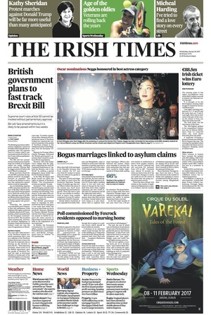 Russian intervention in us election was no one off irish times - De Wednesday Papers