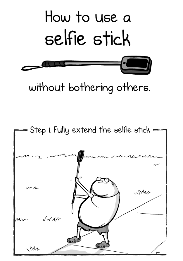 how to use a selfie stick without bothering others. Black Bedroom Furniture Sets. Home Design Ideas