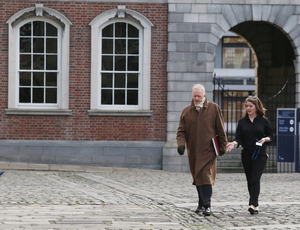 27/2/2017 Opening Statements of the Disclosures Tribunals. Justice Peter Charleton on the opening day of the Disclosures Tribunal in Dublin Castle. This tribunal has begun over the controversy of the Garda Whistleblowers scandals. Photo: RollingNews.ie