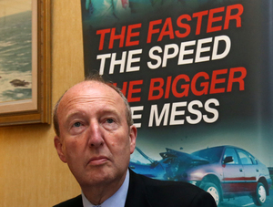 16/09/2016. European Day Without A Road Death - Project Edward. Independent Alliance Minister for Transport Shane Ross TD talking to the media on his way into Garda Headquarters today for the road safety pledge at Garda Headquarters. Photo:Sam Boal /RollingNews.ie