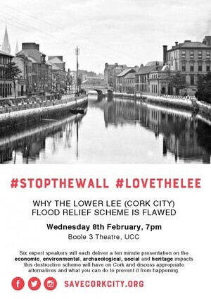 Save Cork City Stop The Wall Event Poster A4