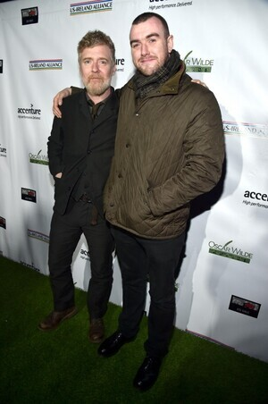 SANTA MONICA, CA - FEBRUARY 23: Honoree Glen Hansard (L) and poet Stephen James Smith attend the 12th Annual US-Ireland Aliiance's Oscar Wilde Awards event at Bad Robot on February 23, 2017 in Santa Monica, California. (Photo by Alberto E. Rodriguez/Getty Images for US-Ireland Alliance ) *** Local Caption *** Glen Hansard;Stephen James Smith