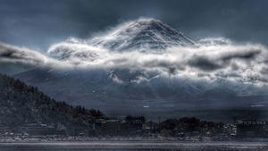 Moody Mount Fuji by Ann Ric