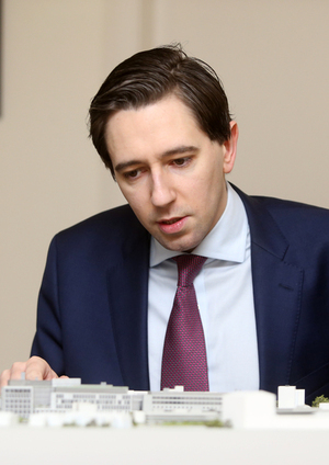 10/03/2017.New National Maternity Hospital.  Pictured Minister for Health Simon Harris TD looking at a model of St Vincents University Hospital and how the new building will fit into the existing complex. Today the Ministermarked the submission of the planning application for the new National Maternity Hospital on the St Vincents campus to An Bord Pleanala. Photo: Sam Boal/Rollingnews.ie
