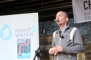 08/04/2017. Right 2 Water protest. Pictured Paul Murphy TD speaking to thousands of people who protested in Dublin city this afternoon against the charging of water. The Protest is trying to keep preassure on the Government to get rid of charging for water and the charges to be dropped against people who took part in water protests in the past. Photo: Sam Boal/Rollingnews.ie