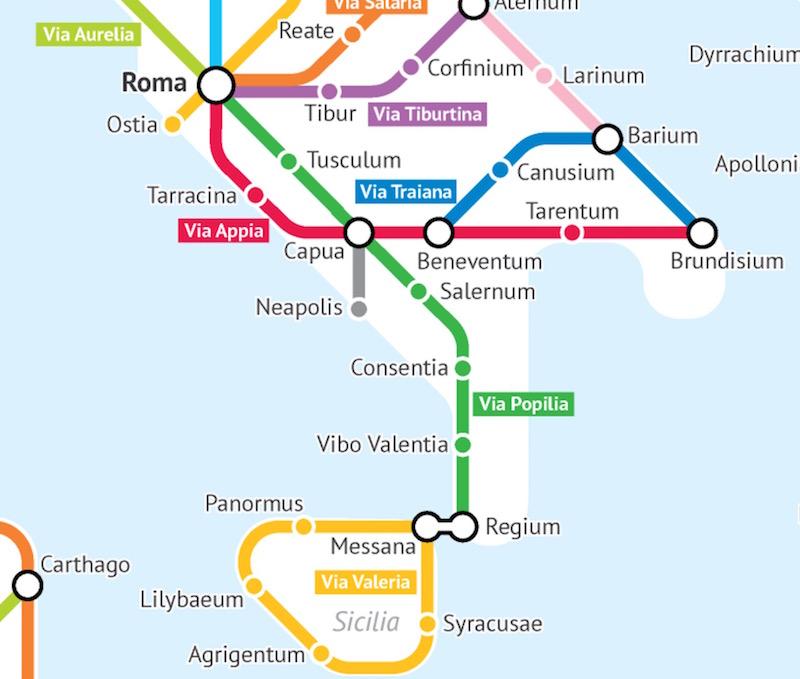 Roman Roads Of Britain Subway Map.They Built The Roads Broadsheet Ie
