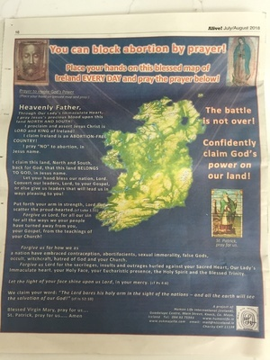 Map Of Ireland On Your Face.The Eighth Amendment Broadsheet Ie