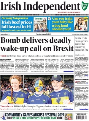 De Tuesday Papers | Broadsheet ie