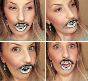 Lip-makeup-that-mimicks-an-eye-1
