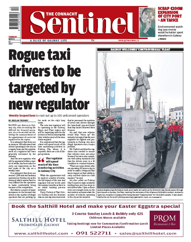 Connacht Sentinel March 19