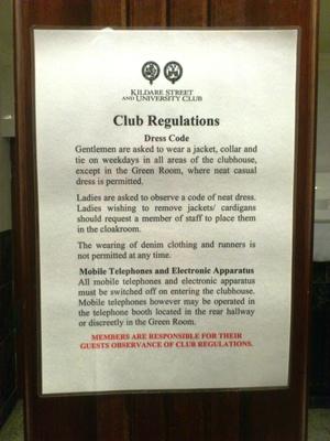 Kildare Club Rules