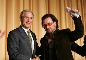 U2 - Bono and Bush
