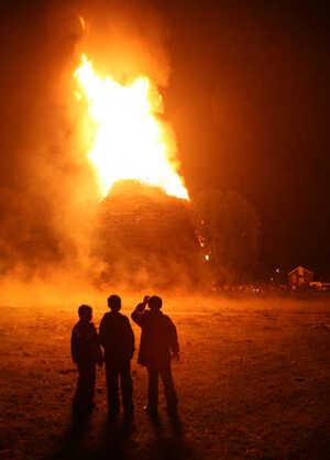 12/7/2007. Bonfires in Northern Ireland