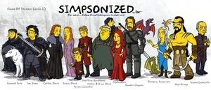 small_simpsonized game of thrones characters