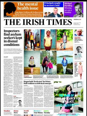 Newspaper Irish Times (Ireland). Newspapers in Ireland. Monday's ...