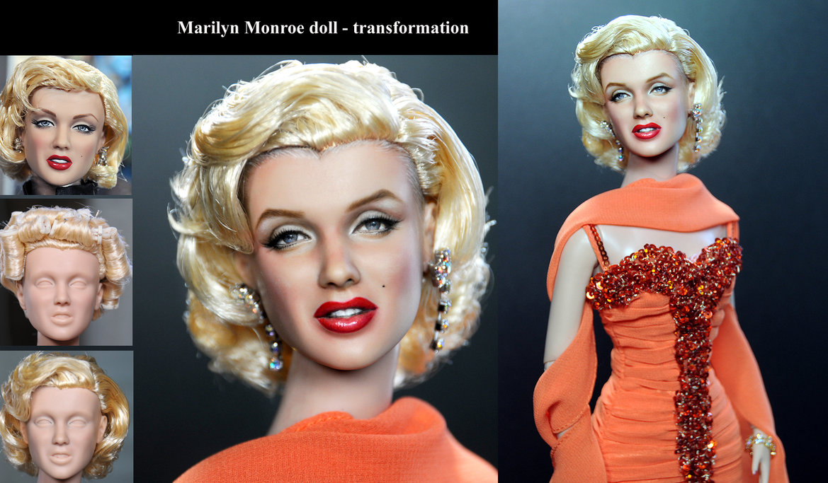 marilyn_monroe_custom_doll_repaint_transformation_by_noeling-d5venmu