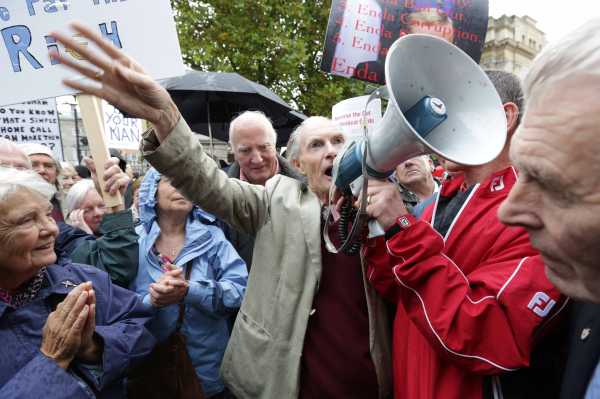 22/10/2013. Pensioners protest. Patrick Touher fr