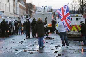 12/1/2013 Unionists Flags Protests
