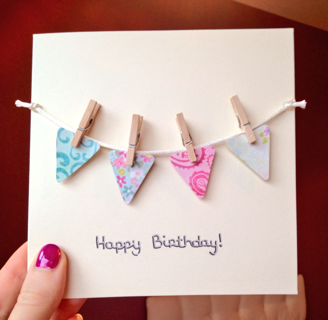 Fionnuala Malone Happy Birthday Bunting Card