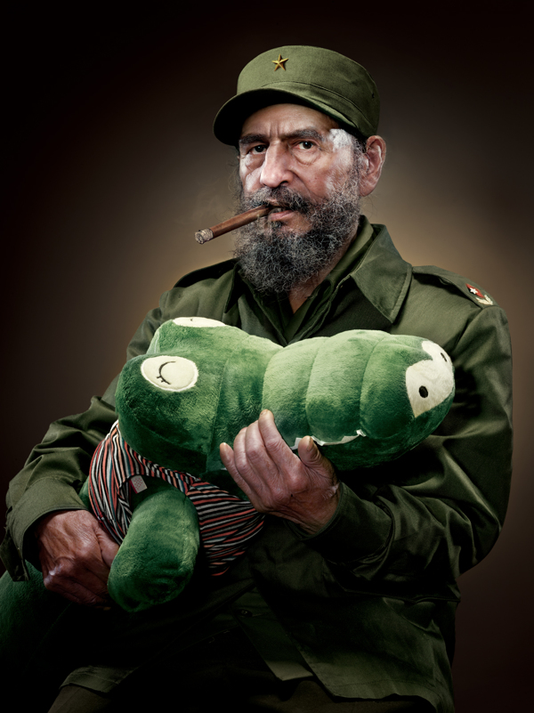 Fidel-Castro-With-Alligator