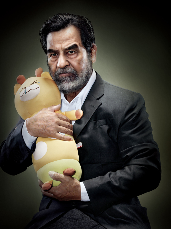 Saddam-Hussein-with-Crying-Animal