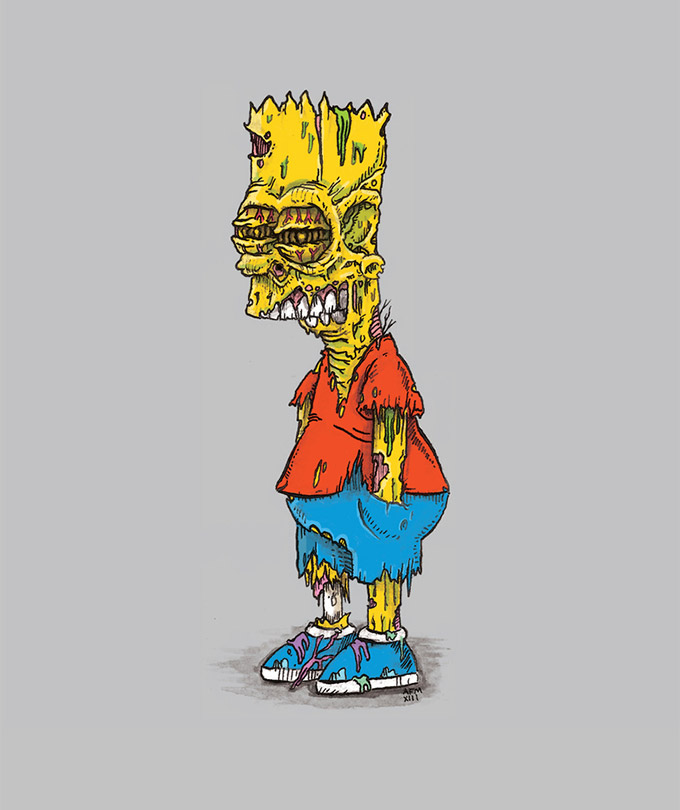 Zombie-Iconic-Pop-Culture-Characters-by-Albert