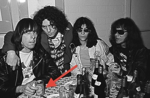 Ramones with Marc Bolan